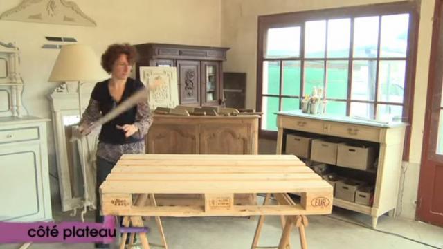 Tuto vid o cr er une table basse depuis une palette de chantier le mans vid os le mans - Creer une table basse ...